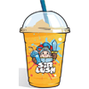 Orange slush drink by sir lush