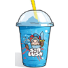 Blue raspberry slush drink