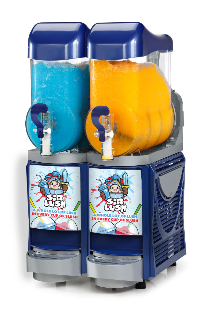 skyline 2 blue commercial slush machine